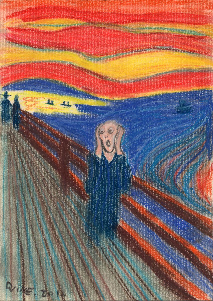 852x1200 Edvard Munch The Scream Pastels My Version (Darkvine)