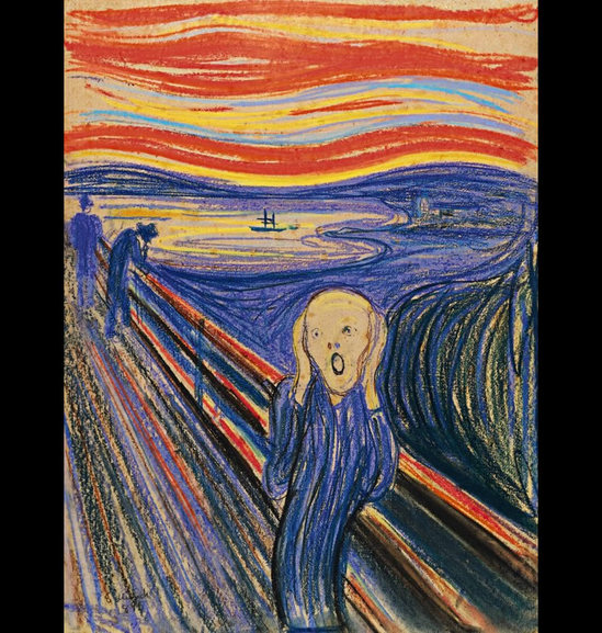 549x577 Famous Drawing The Scream Will Be Auctioned Off For $80 Million