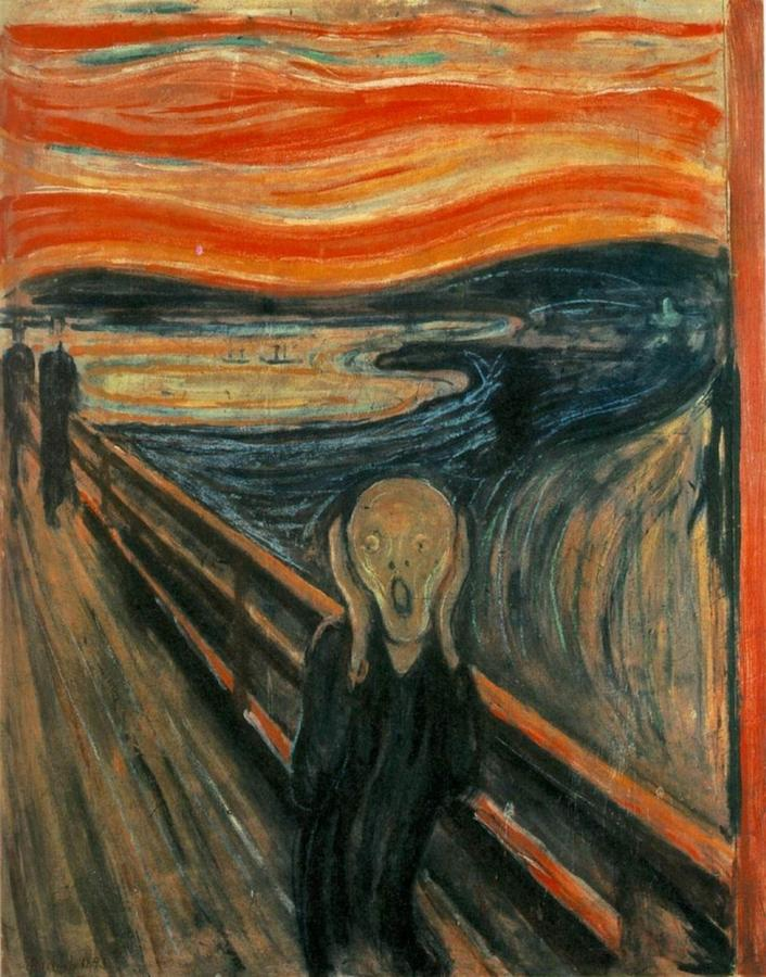 706x900 The Scream Drawing By Edvard Munch