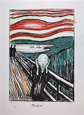 345x470 The Scream Drawing Created In 1895 By Edvard Munch On Artnet