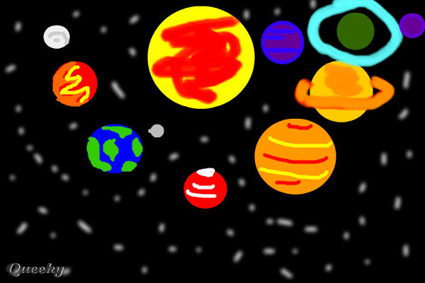 600x400 The Solar System A Science Fiction Speedpaint Drawing By