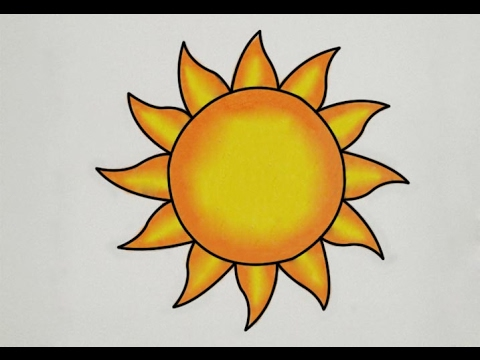 480x360 How To Draw Sun