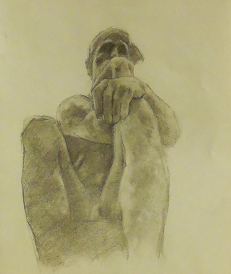 760x900 Rodin's The Thinker Drawing By Glenn Daniels