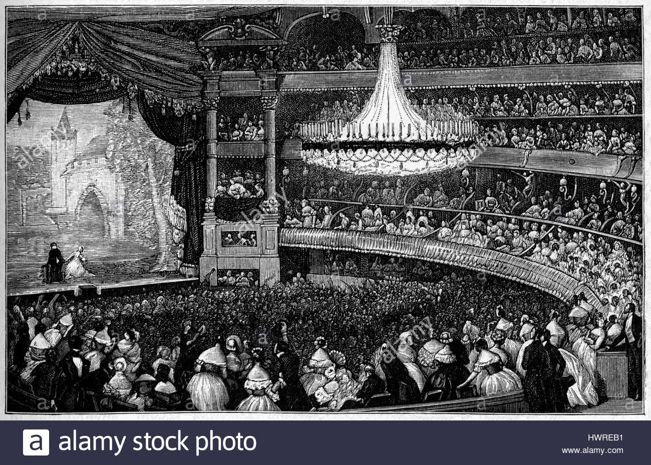 1300x929 Interior Of The Italian Theatre Theatre Italien (Salle Ventadour