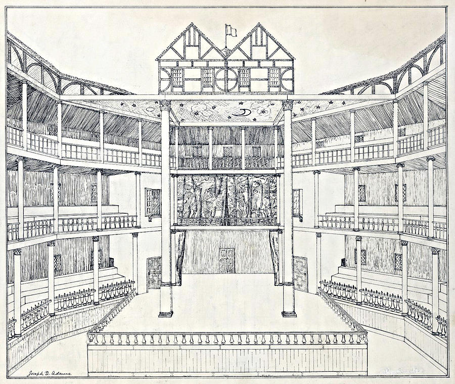 900x760 Shakespeares Globe Theatre Photograph By Folger Shakespeare Library
