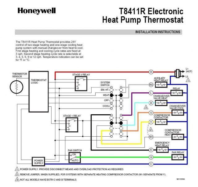 640x605 Heat Pump Thermostat Wiring Honeywell Surprising Diagram