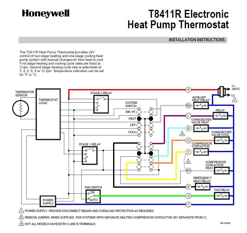 Honeywell Heat Pump Thermostat Wiring Diagram - Catalogue of ... on