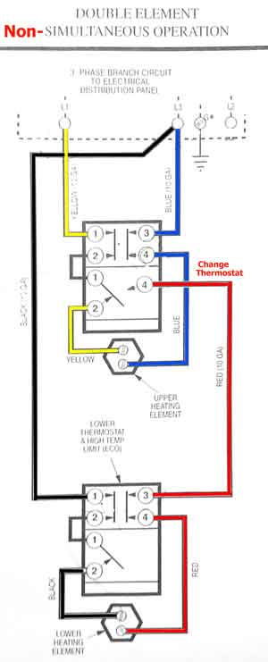 300x741 How To Wire Water Heater Thermostat
