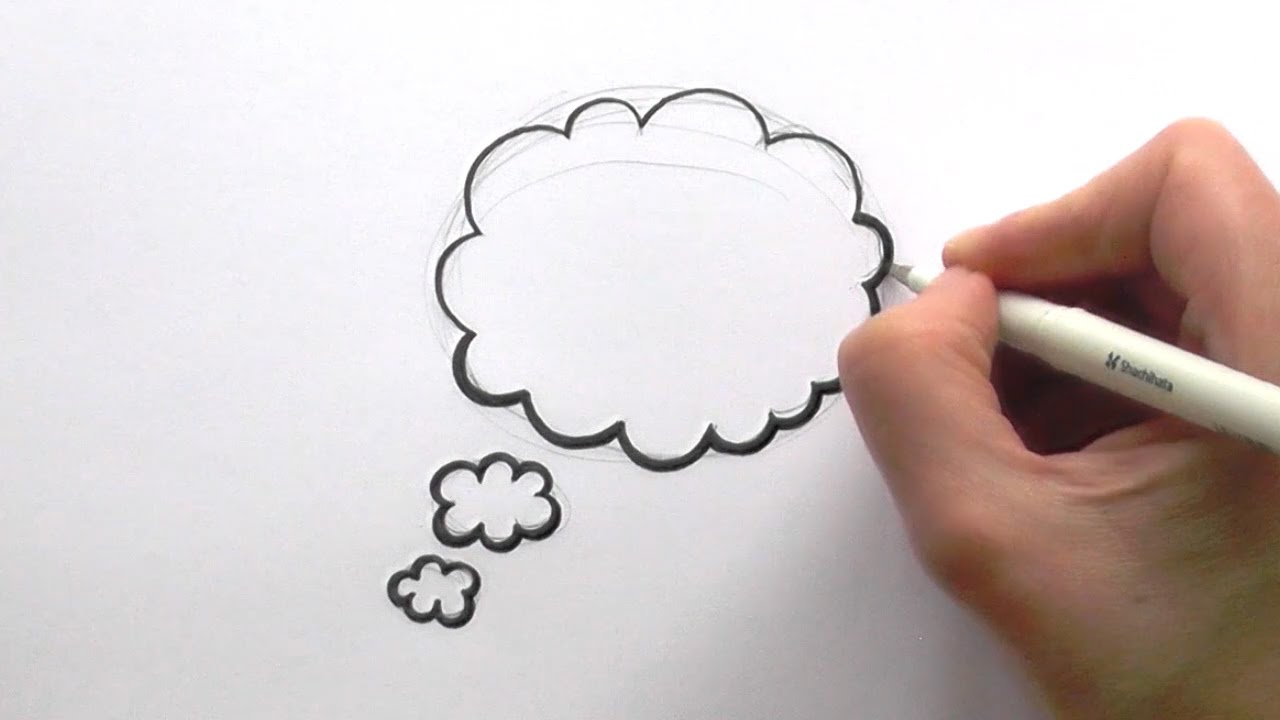 1280x720 How To Draw A Cartoon Thought Bubble