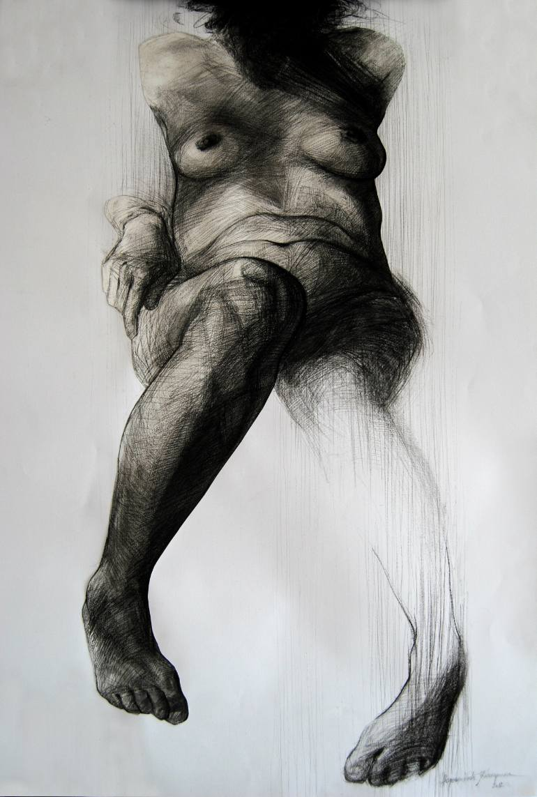 770x1143 Saatchi Art Thinking Drawing By Katarina Nedeljkovic