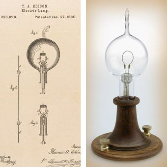 340x340 Left, Thomas Edison's Patent Drawing For An Improvement