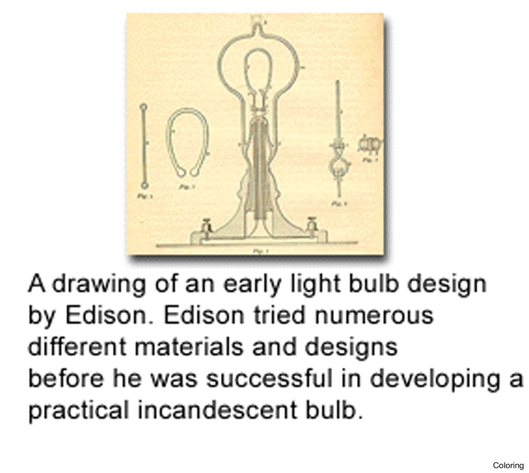 Thomas Edison Light Bulb Drawing at GetDrawings.com | Free for ... for Thomas Edison Inventions Timeline  131fsj