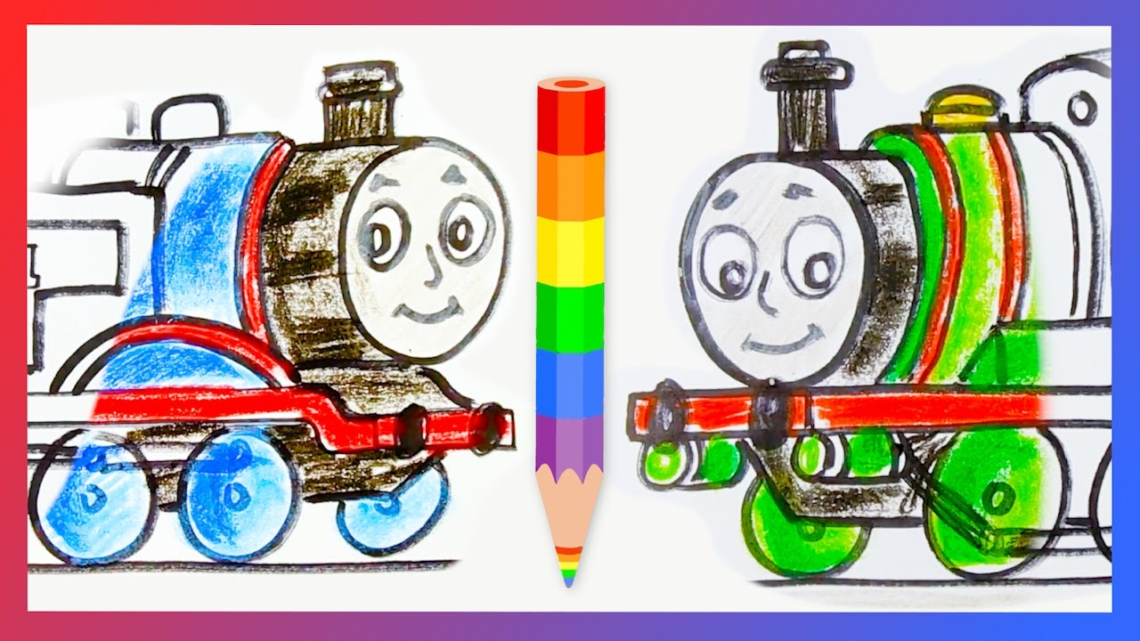 1280x720 How To Draw Thomas The Tank Engine And Percy The Small Engine