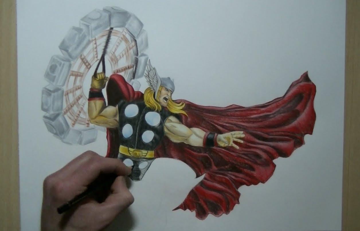 1256x806 Drawing Thor