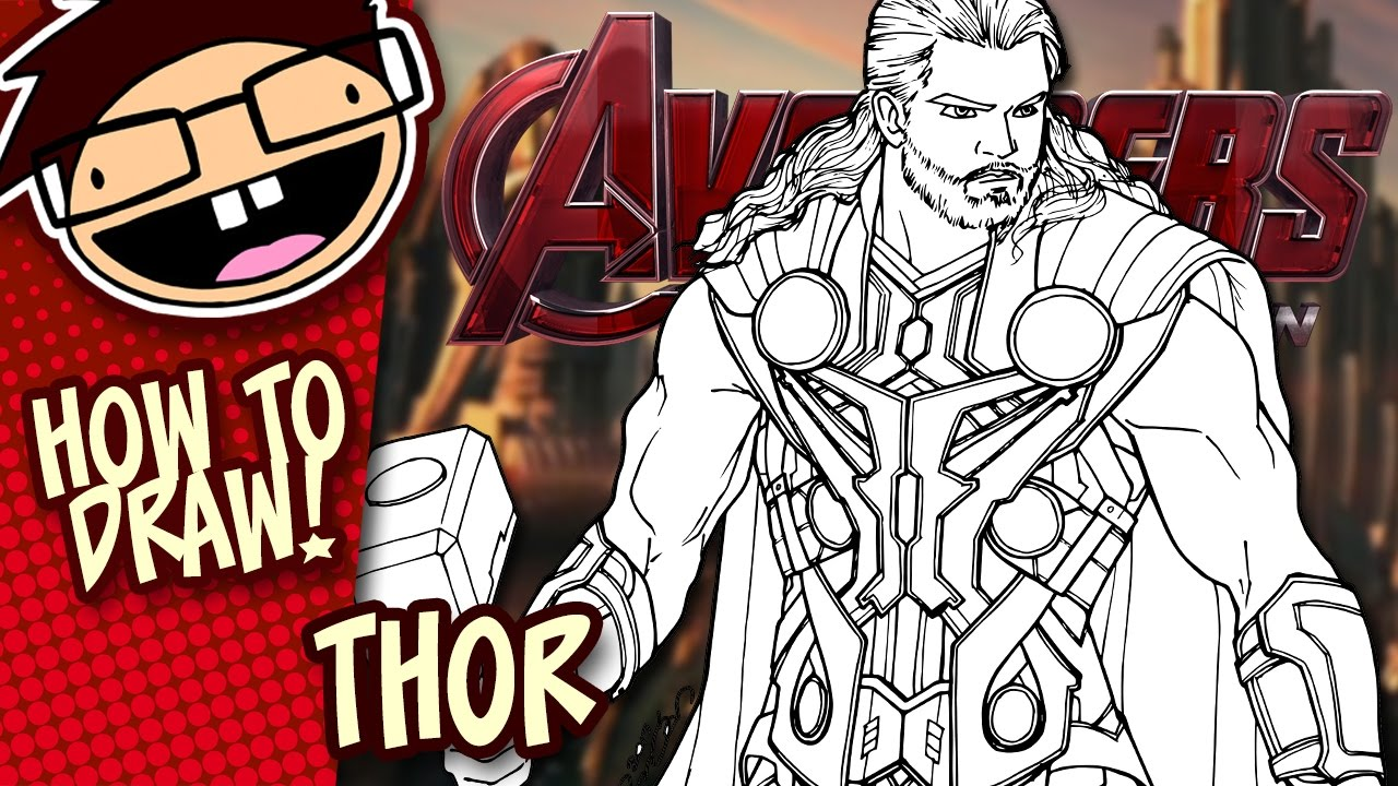 1280x720 How To Draw Thor (Avengers) Narrated Easy Step By Step Tutorial