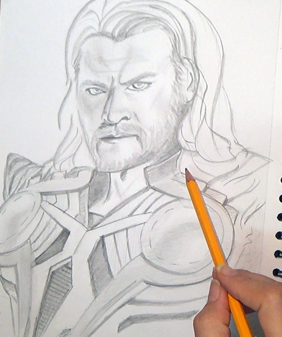 904x1080 Speed Drawing Of Thor. The Avengers Age Of Ultron. Fun Watch