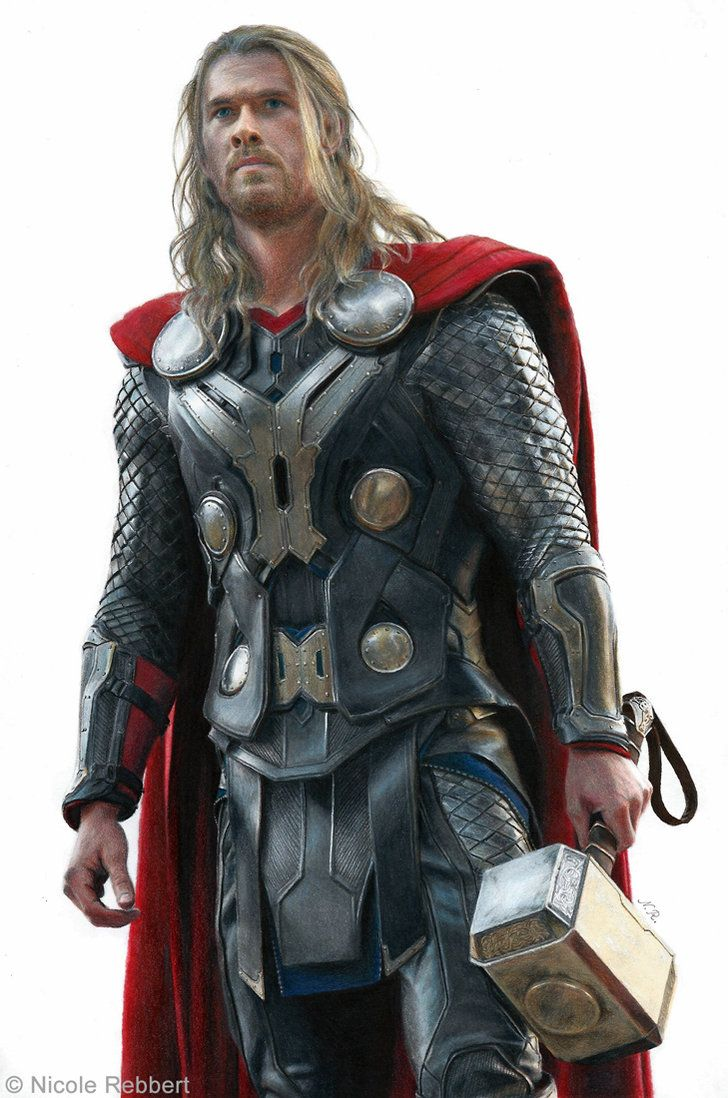 728x1098 Thor (Drawing) By Quelchii On Thor Thor