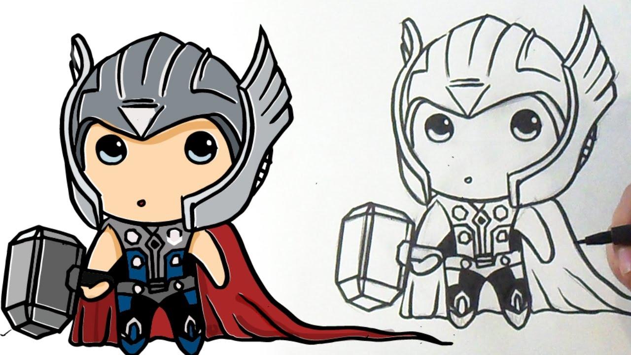 1280x720 Dibujar A Thor Kawaii