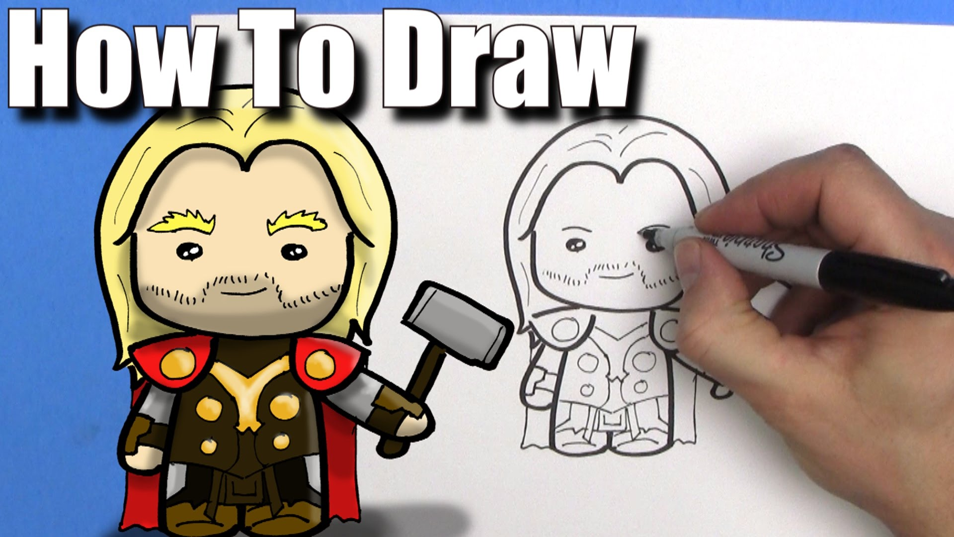1920x1080 How To Draw Thor