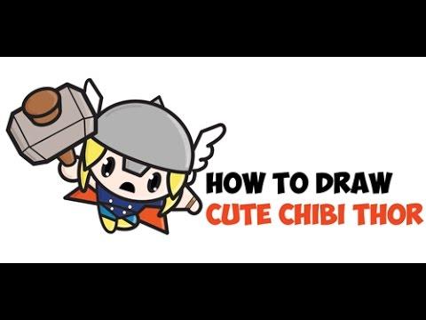 480x360 How To Draw Cute Chibi Thor Chibi Easy Kawaii Cartoon Drawing