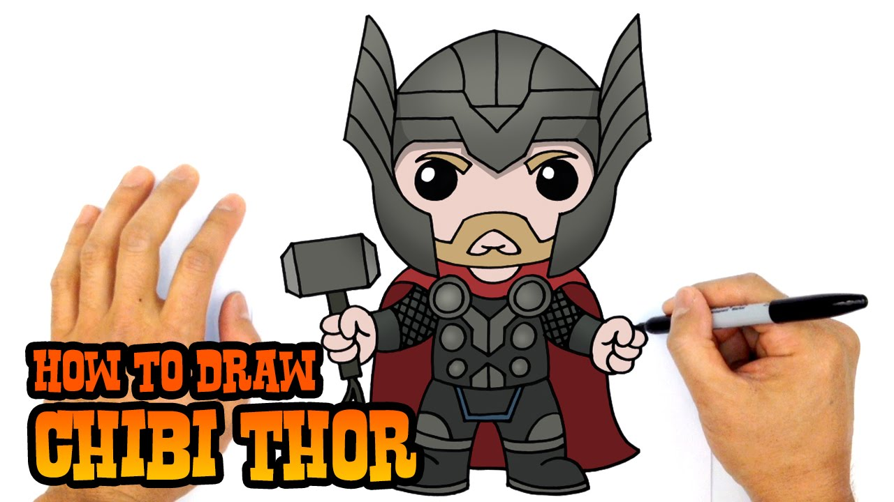 1280x720 How To Draw Thor The Avengers
