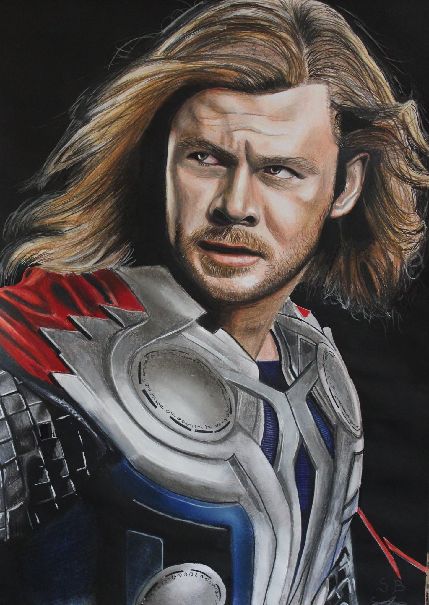 1452x2047 How I Draw Chris Hemsworth (Thor 2 The Dark World)