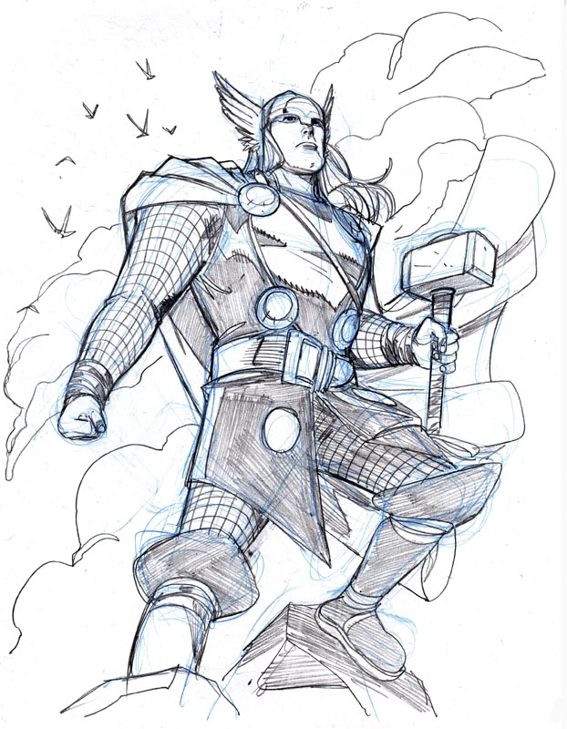 622x800 Thor By Mike Wieringo Comic Book Art Thor, Thunder
