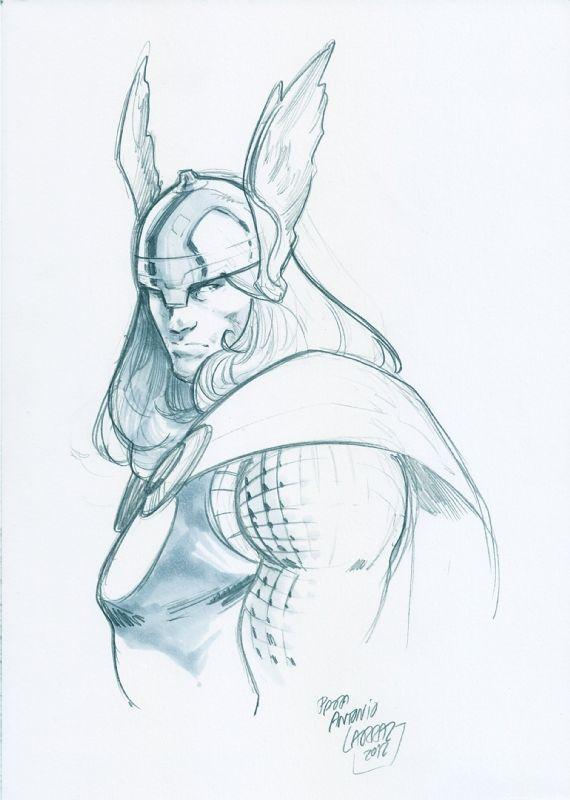 570x800 Thor By Pepe Larraz Disegni A Matita Thor, Comic