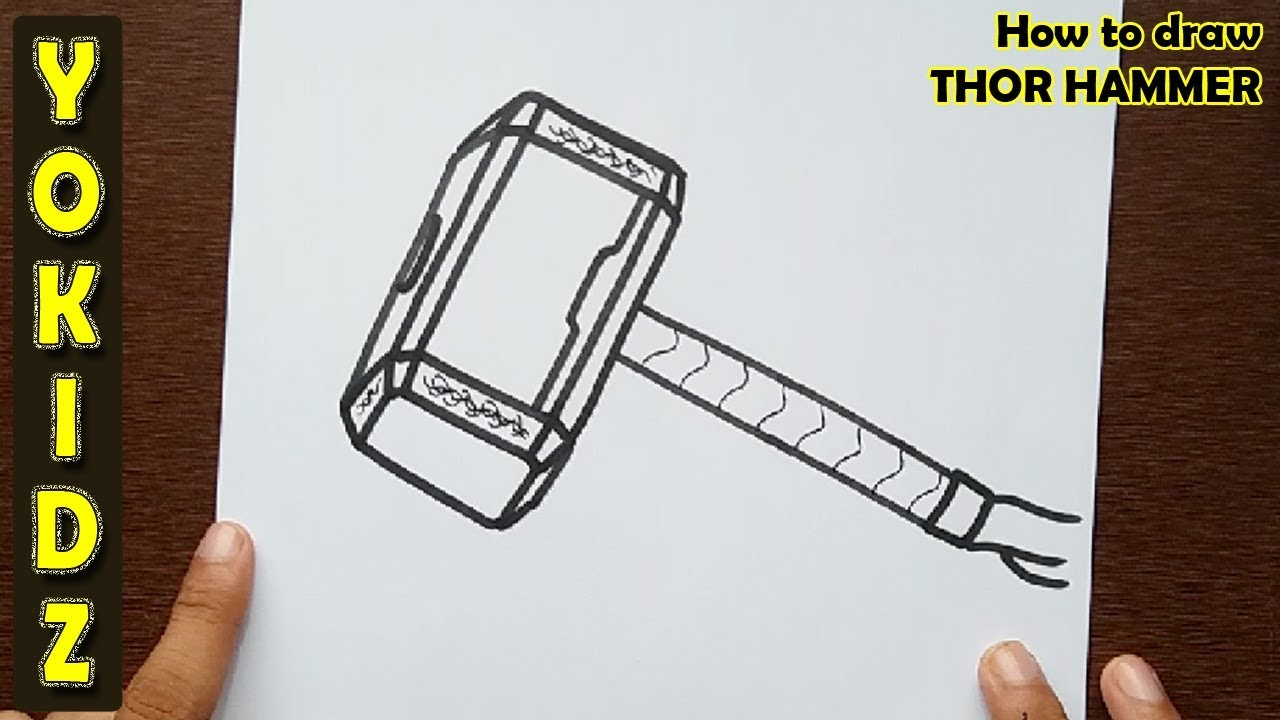 1280x720 How To Draw Thor Hammer