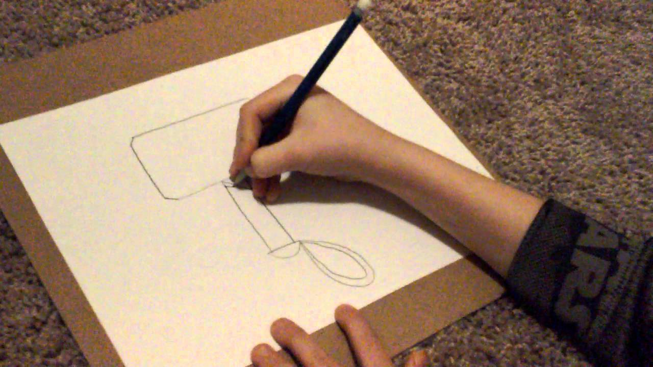 1280x720 How To Draw Thor's Hammer!!
