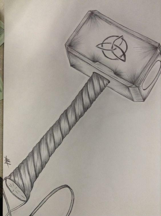 ^hammer axe tattoo