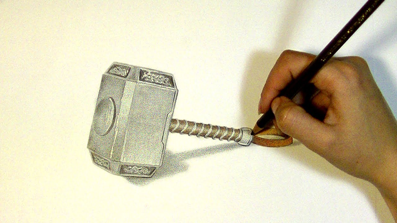 1280x720 Thor's Hammer Drawing