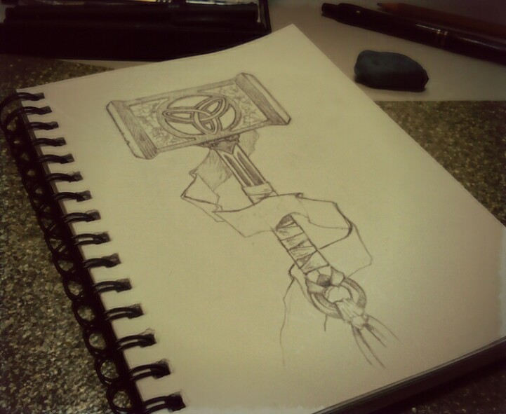 721x591 Todays Daily Sketch, Thor's Hammer Thor Sketches