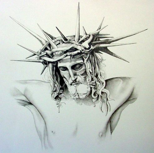 494x490 Image Result For Crown Of Thorns Creepy Jesus Pinterest