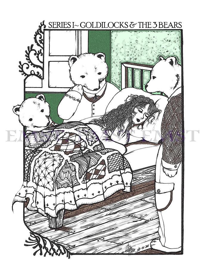695x900 Goldilocks And The Three Bears Drawing By Emlyne Tan