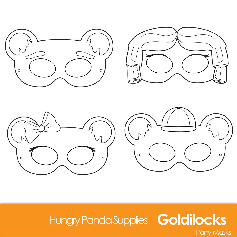 1500x1500 Goldilocks And The Three Bears Printable Masks Goldilocks