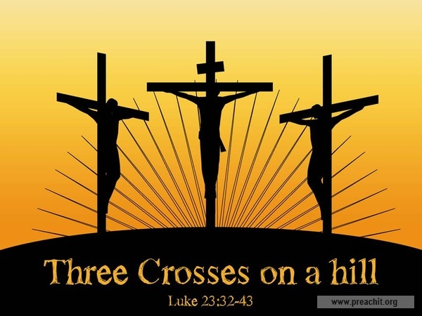 600x450 Service Background For Church Services Three Crosses On A Hill