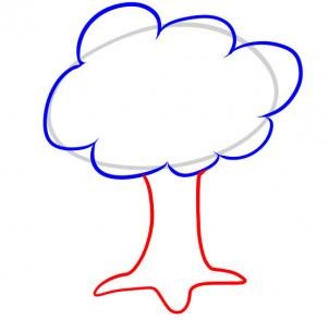 302x294 How To Draw How To Draw A Tree For Kids