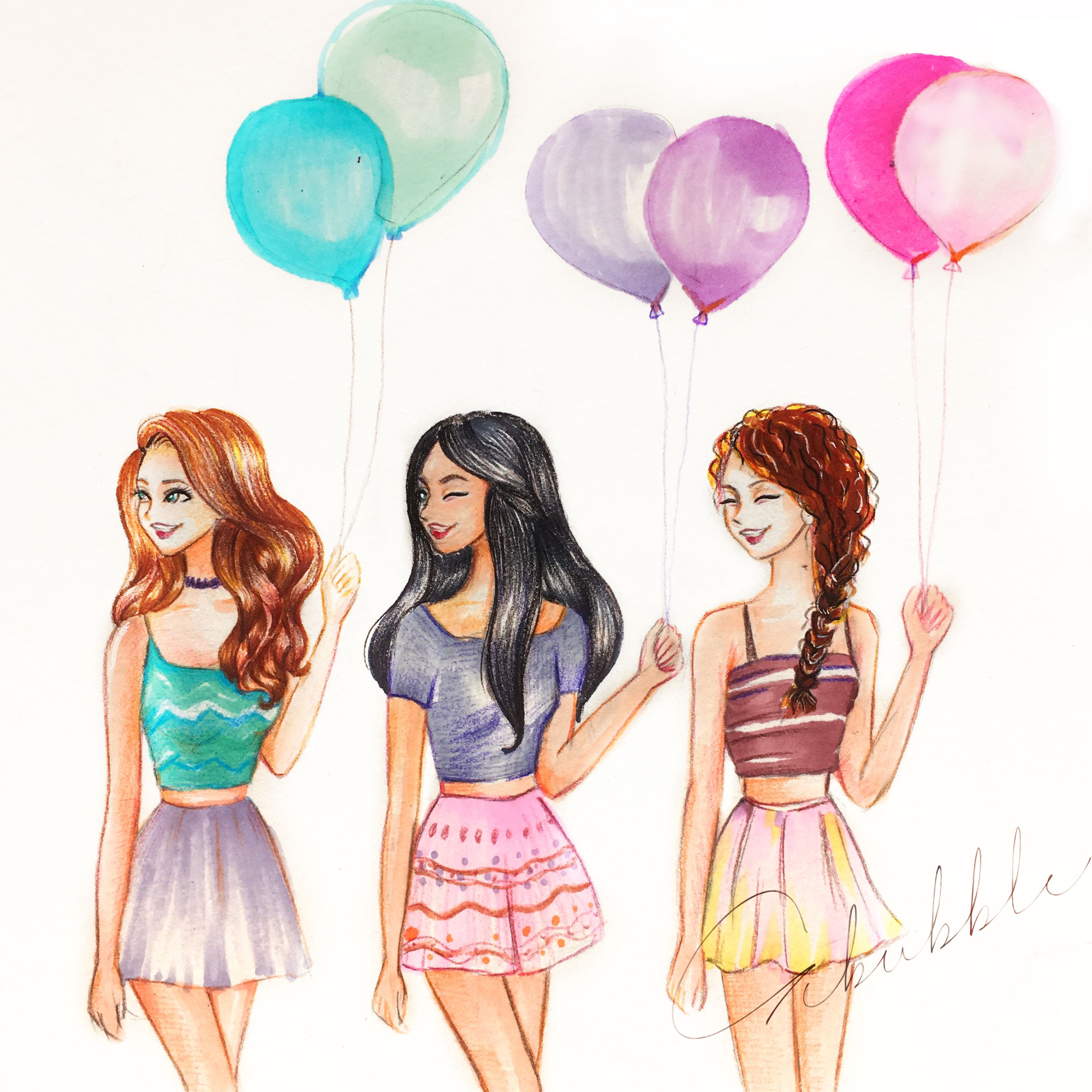 2826x2826 Balloon Cfl El Mejor Drawings, Bff And Drawing Ideas