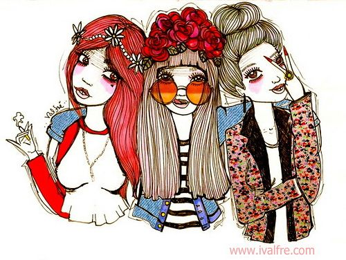 500x376 Best Friends Forever Lt3 We Heart It Drawing And Girl B.f.f