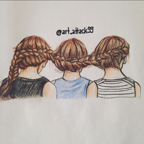 480x480 Image Result For Girl With Braids Drawing Art
