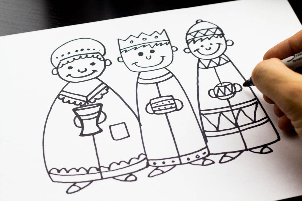 1000x667 How To Draw The Three Wise Men