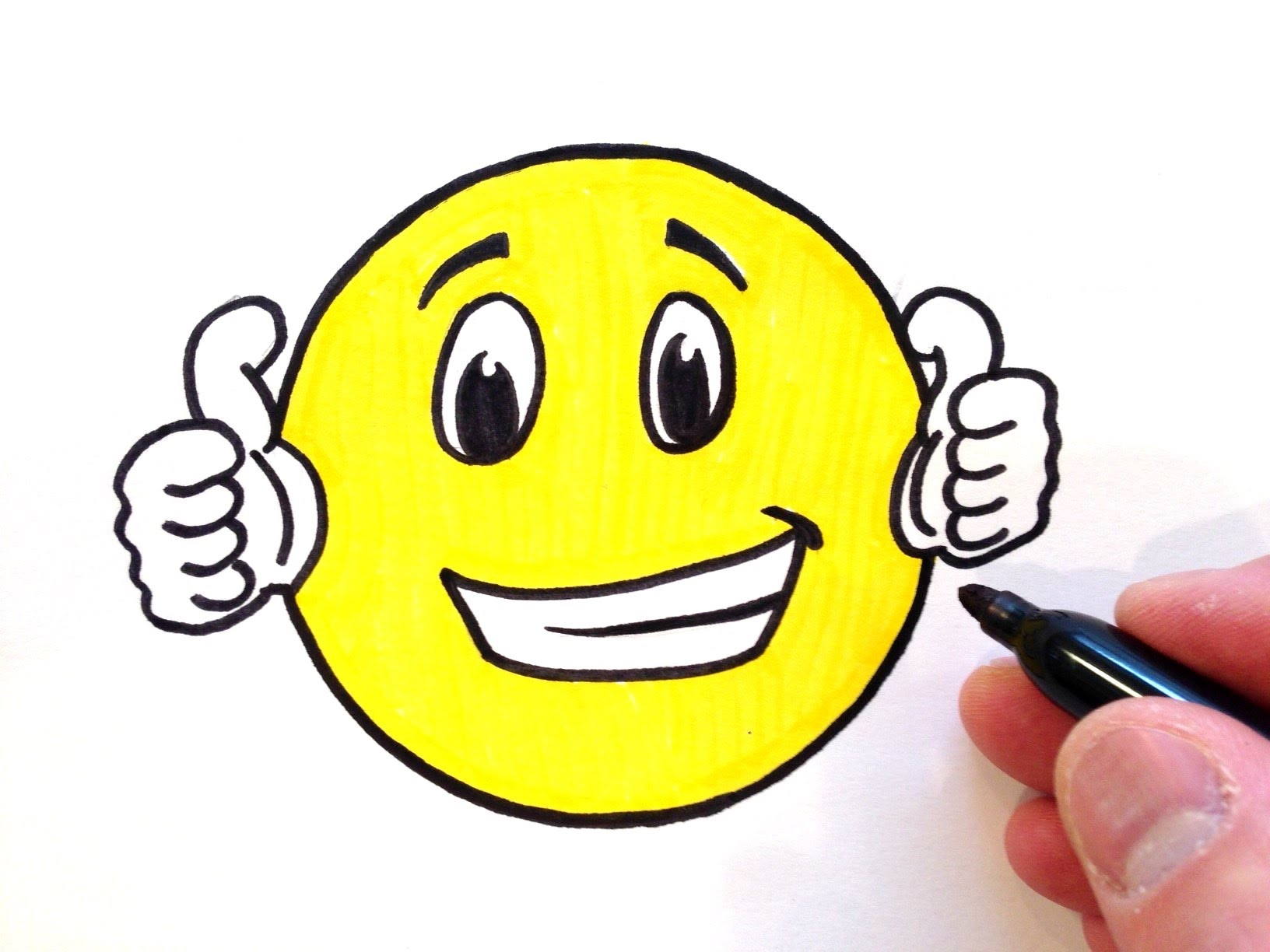 1632x1224 Smiley Face Drawing How To Draw A Thumbs Up Smiley Face
