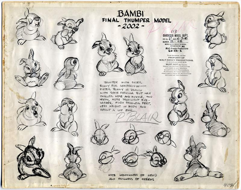 800x630 Vintage Disney Drawing Thumper Disney Disney