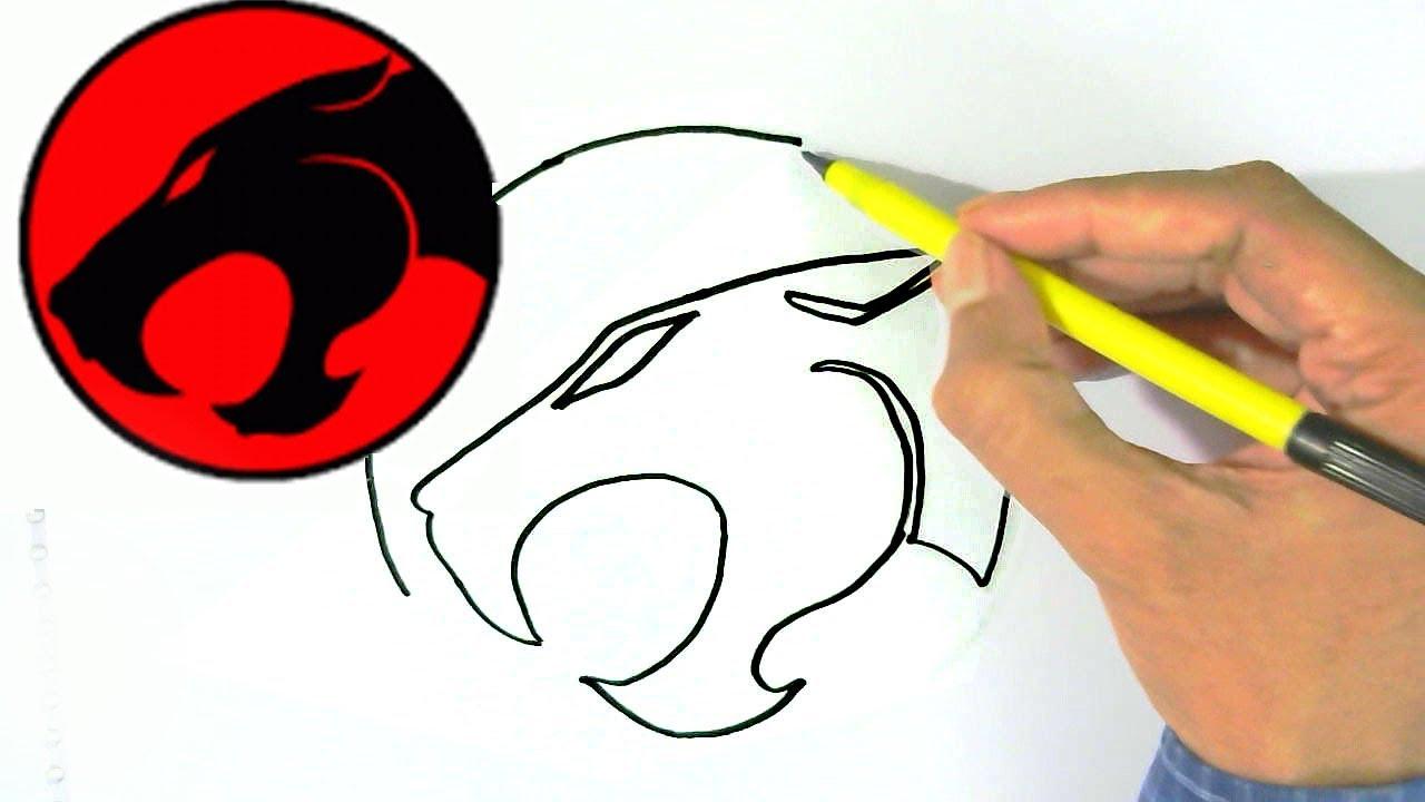 1280x720 How To Draw Thundercats Logo Easy Steps For Children, Kids