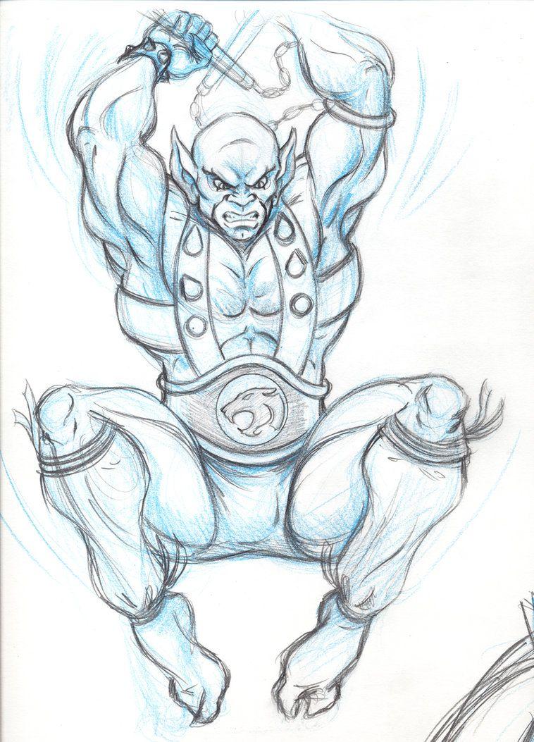 758x1053 Panthro Sketch 1 By ~thundercat78 Thundercats