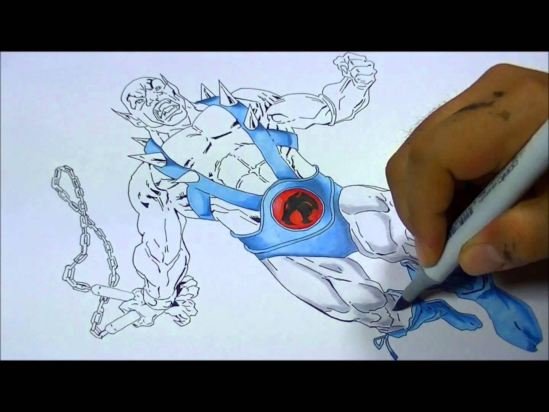 1440x1080 Thundercats Panthro Copic Sketch Marker Drawing