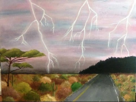 480x360 Speed Drawing Thunderstorm