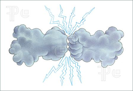 449x306 Thunderstorm Clip Art Thunder Storm. Hand Drawing Watercolor