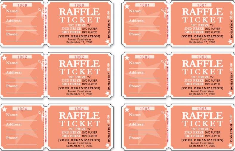 raffle draw tickets